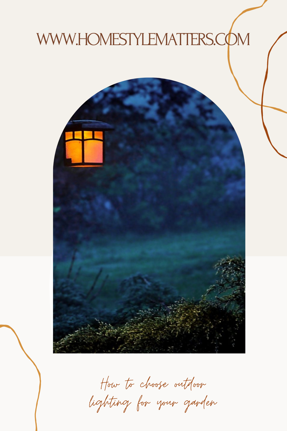 How to choose outdoor lighting for your garden 3