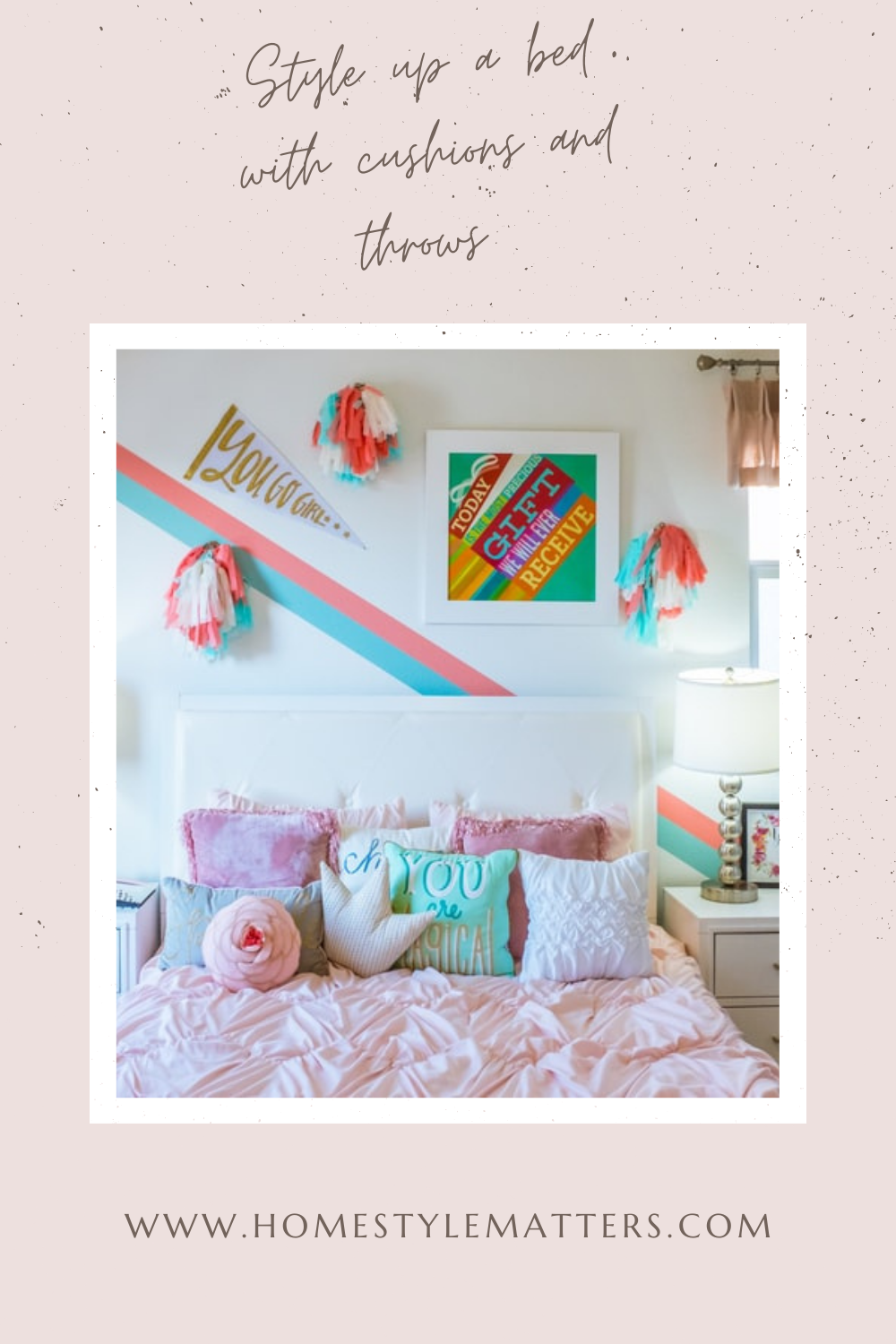 Style up a bed with cushions and throws 1