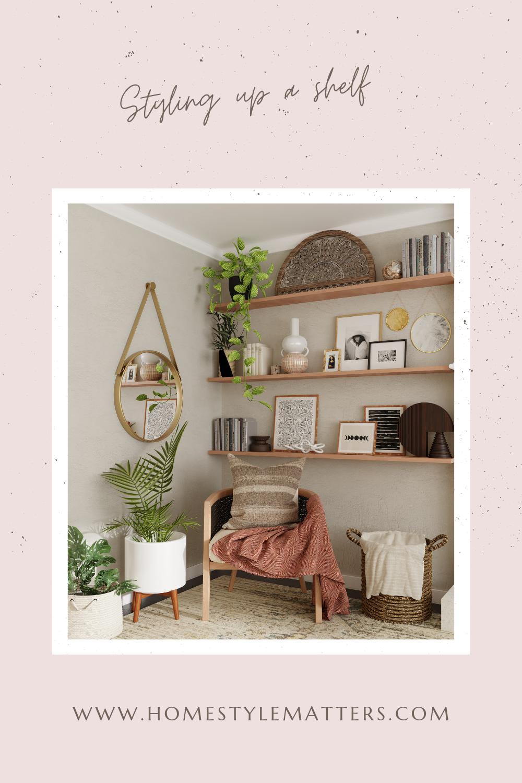styling up a shelf
