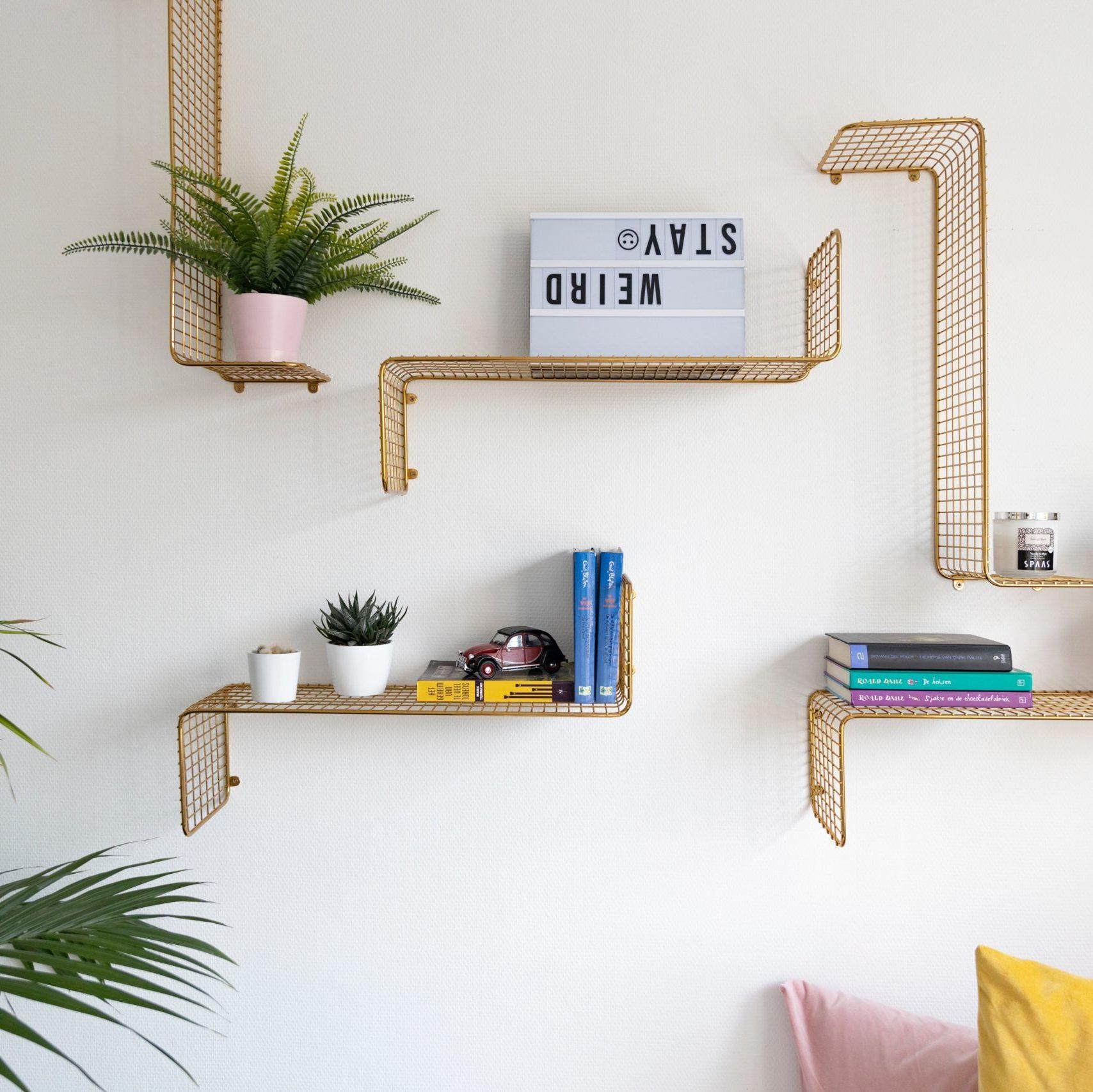 Style up a shelf