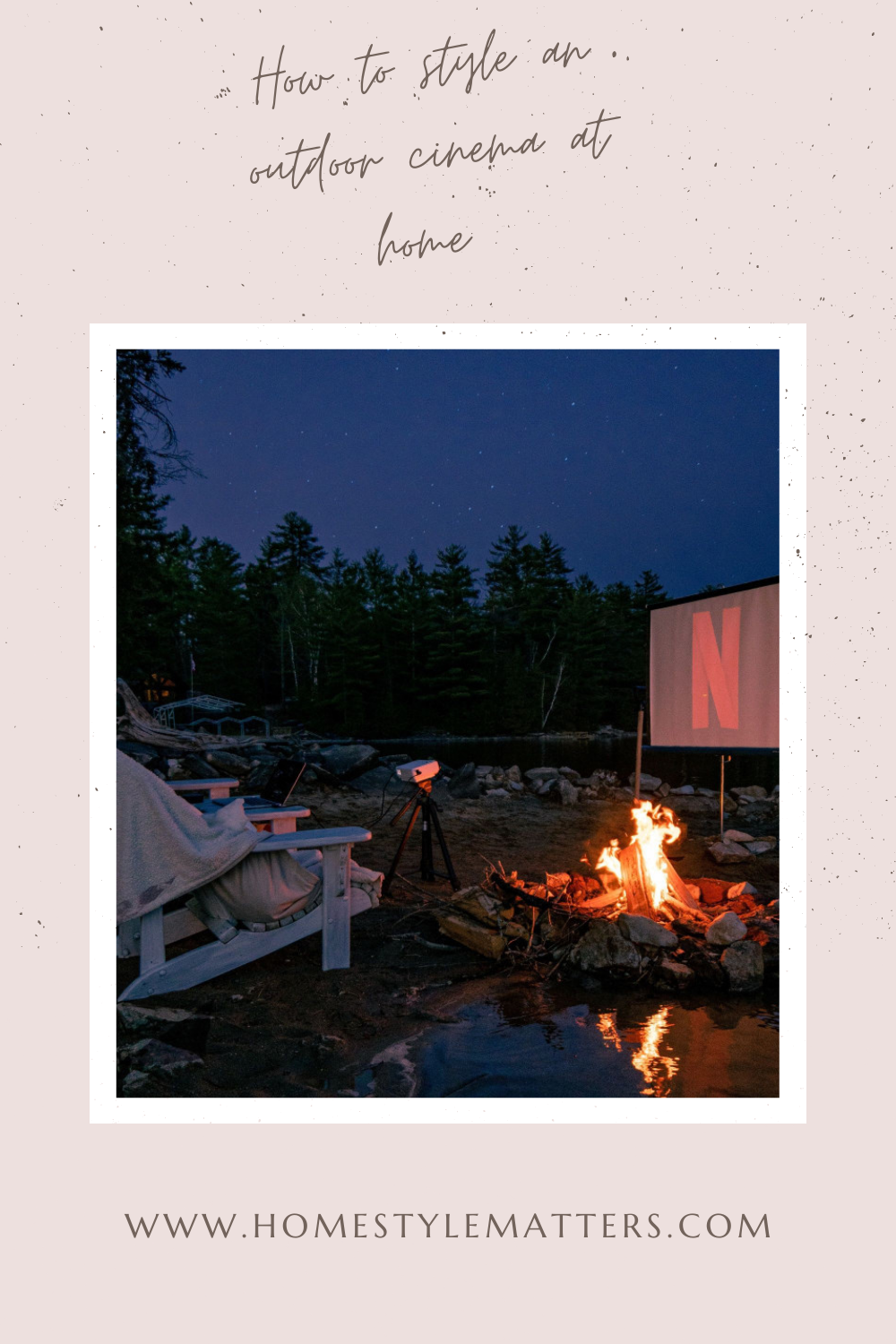 How to style an outdoor cinema at home 5