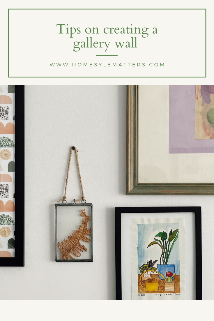 Tips on creating a gallery wall