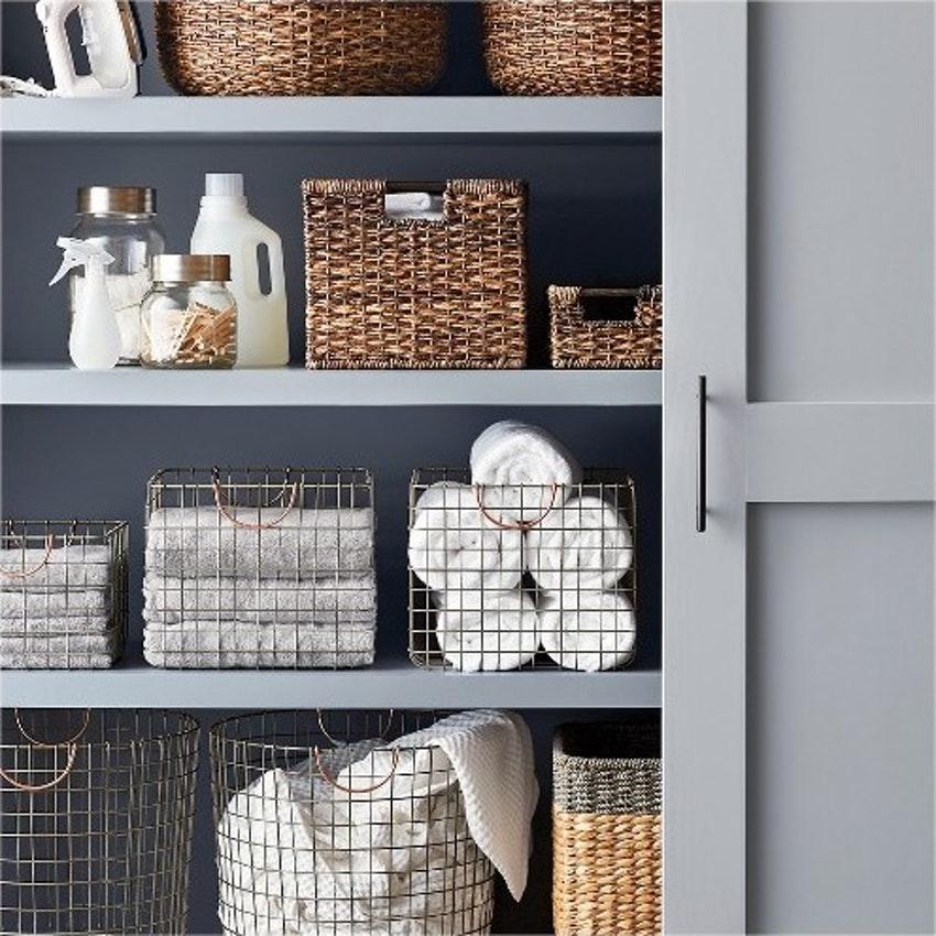 Linen cupboard storage ideas
