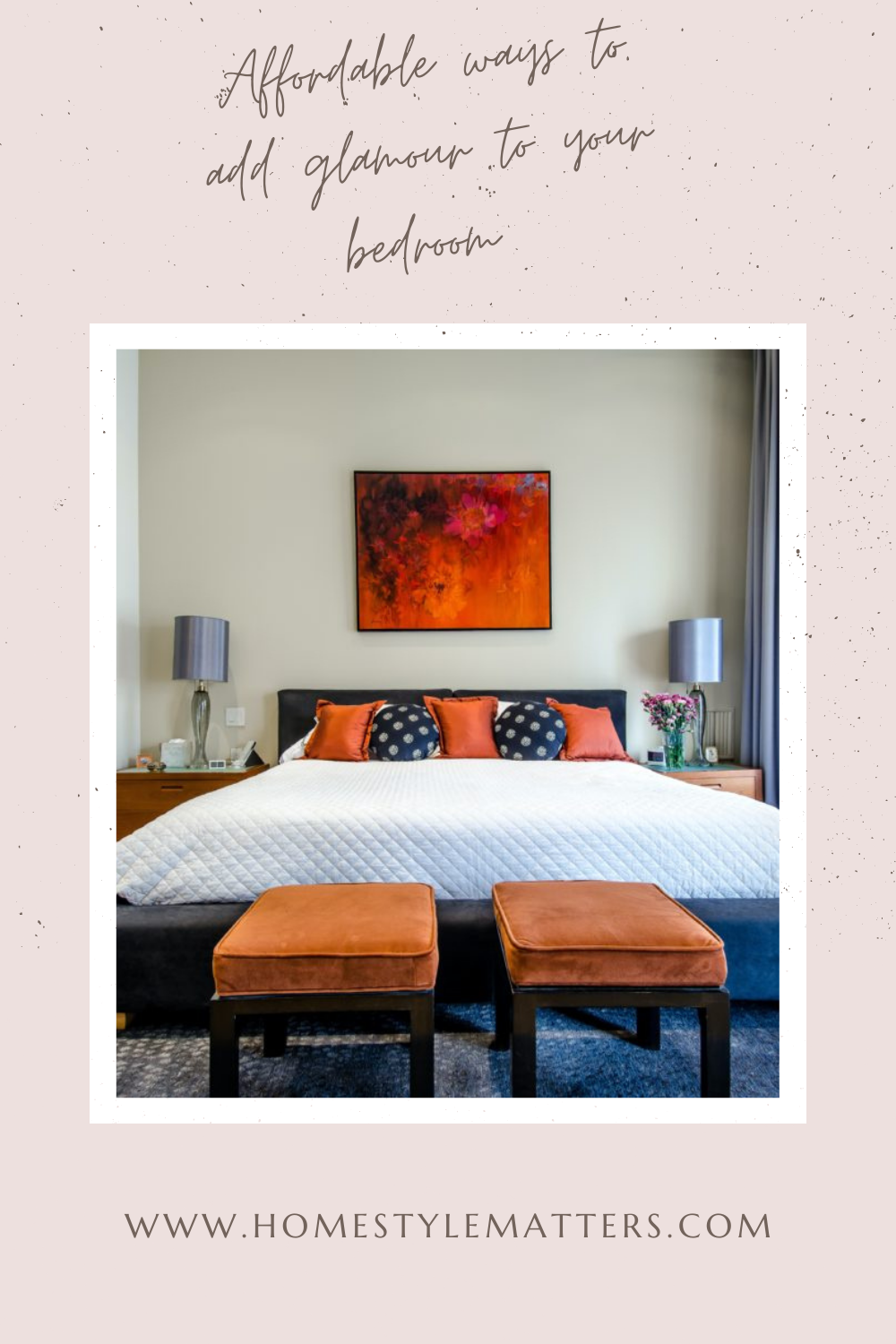 Affordable ways to add glamour to your bedroom 6